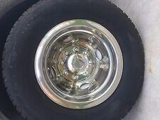 "16"" 8 Lug Trailer Wheel Simulator Hubcap Wheelcover Snap on tandem dual single"