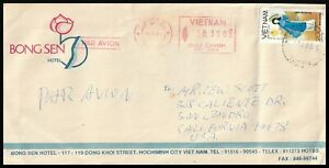 5260 - VIETNAM 1994 HOTEL COVER FRANKING + METER UP-RATE HO CHI MINH CITY > USA
