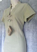 Womens 100% Cotton Short Sleeve Kharki Green Summer Casual Dress Size L  NWT