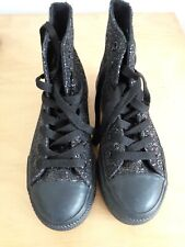 Everlast Black Glitter Lace Up  Ladies/Girls Boots Size 4.