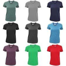 Cotton Blend V Neck Basic T-Shirts for Women