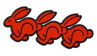 Auto 3D Emblem Relief Schild Häschen Rabbit Hase Bunny HR Art 4700 selbstklebend