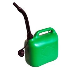 5L LITRE JERRY CAN GREEN UNLEADED PETROL FUEL OIL CANISTER CONTAINER & SPOUT