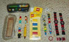 LEGO - Hieroglyph, Snowboard, Soccer & City Pen + 2 Star Wars Watches