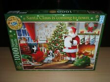 1000 Piece Christmas Jigsaw Puzzle Santa Claus Is Coming To Town FX Schmid