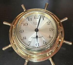 Vintage Elgin 7 Jewel Ship Wheel Clock 6x6 size not working Cordless Electric