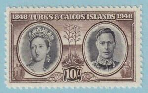 TURKS & CAICOS ISLANDS 100  MINT NEVER HINGED OG ** NO FAULTS VERY FINE!