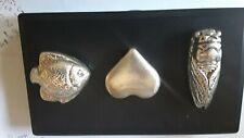 3 pieces hand poured .999 silver ingots 6.248 total ounces