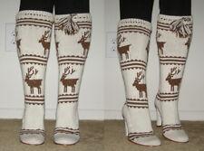 SUPER RARE Cesare Paciotti HEROES line Knit Boots sz 9/39 Raindeer print Winter