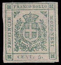 MODENA GOVERNO PROVVISORIO 1859 - 5 c. n. 12 NUOVO € 2.400