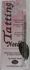 HANDY HANDS #1-0 Medium Yarn Tatting Needle w/ Threader & Pattern