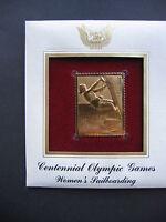 Centennial Olympic Games Womens Sailboarding replica Gold GOLDEN Cover STAMP