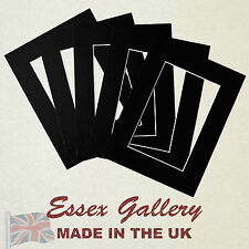 JOBLOT 50 - 8x6 for 6x4 Picture And Photo  Mounts BLACK - Other Sizes Available