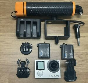 GoPro HERO4 Silver 4K Touchscreen Action Camcorder - Includes 2 Batteries