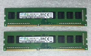 Samsung DDR3 8GB 2x4GB RAM Memory PC3-12800U 1600Mhz Desktop Pc 240pin 1.5v