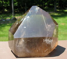 Polished Smoky Quartz Crystal w Rainbows & Rutile Needle