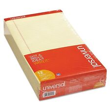 """12-Pack 8.5x14"""" Universal WRITING PADS Perforated Note LEGAL Size Canary Notepad"""