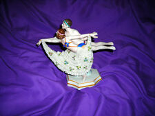 CLEARNACE!  RARE DANCERS ART DECO ANTIQUE DRESDEN SITZENDORF FIGURINE 9X9X5