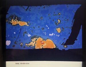 VINTAGE NASA 4 x 5 SLIDE TRANSPARENCY - Contour Map of Venus by Pioneer