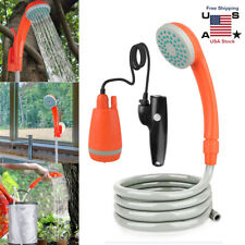 Outdoor Portable Shower Head Camping Water Pump Hiking Travel Rechargeable New