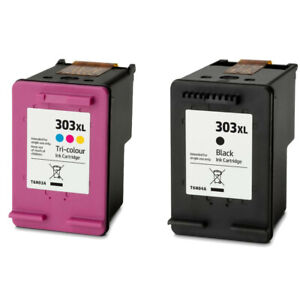 BLACK & COLOUR INK CARTRIDGE REFILLED COMPATIBLE WITH HP 303XL HP 303 XL VERSION