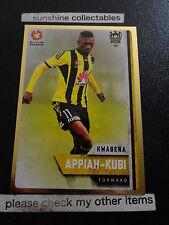2015/16 TAP N PLAY A-LEAGUE GOLD CARD NO.170 KWABENA APPIAH- KUBI