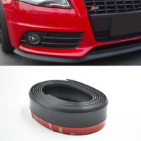 2.5M Medium Front Bumper Lip Splitter Body Spoiler Skirt Rubber Protector Black