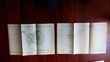 2 1891 Sketch Diagrams US Military Side Elevation Metallic Carriage Machine Gun
