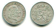 2 1/2 Gulden Niederlande 1959 Silber