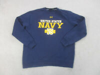 Under Armour Navy Midshipmen Sweater Adult Extra Large Blue Military Mens