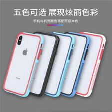 Contrast Color TPU Bumber Frame For iPhone X XR XS Max Case With Lanyard String