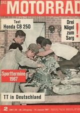M6702 + Test HONDA CB 250 + AERMACCHI Ala Verde 5-Gang + Das MOTORRAD 2/1967