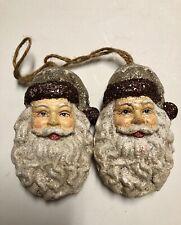 Santa Face Christmas Ornament Rustic Holiday