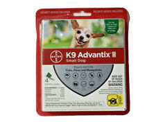 Bayer K9 Advantix II Flea & Tick Treatment for Small Dogs - 4 Pack of Tubes/Dose