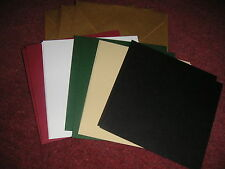 SINGLE FOLD CARD BLANKS -  leather finish -  160MM SQUARE