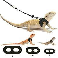 BWOGUE Bearded Dragon Harness and Leash Adjustable Leather Lizard Reptiles