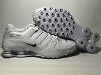 Nike Shox NZ EU Running Shoes White Black 501524-106 Men's NEW Size 8-13 US