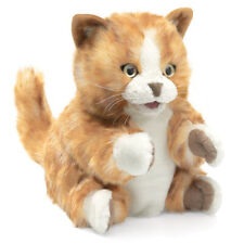 New Folkmanis Hand Puppet Soft Plush Toy Orange Tabby Cat Kitten Stuffed Animal
