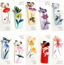 Lots 10Pcs Butterfly Flower Pattern Book Mark Stationery Bookmark Craft Supplies