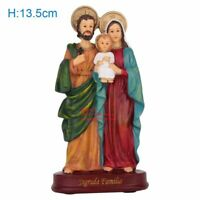5.3inch Holy Family Ornament Figurine Jesus Mary Joseph Religious Decor Statue