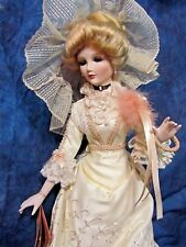 Artisan porcelain Doll Madame Shiao-Yen Dorsey Creations Victorian lady Gown 24""