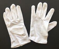 NWT Age 7-9 Children's L 100% Cotton White Gloves Unisex Kids Boy or Girl