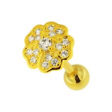 Flower Micro Jeweled Cartilage Helix Tragus Piercing Ear Stud body Jewelry