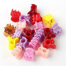 20Pcs Fashion Colorful Assorted Mini Small Plastic Hair Clips Claws Clamps New