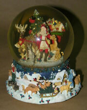 Santa Claus Musical Turning Snow Globe By Kirkland