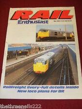 RAIL ENTHUSIAST #44 - RAILFEIGHT LIVERY - MAY 1985