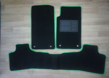 Car Floor Mats Custom Made Front & Rear w/Green Edging for Holden Commodore VE