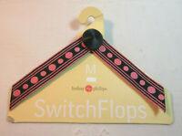 Lindsay Phillips SwitchFlops Medium Interchangeable Straps  Black & Pink