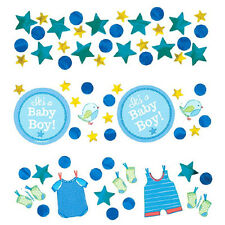 SHOWER WITH LOVE BOY CONFETTI VALUE PACK ~ Baby Party Supplies Decorations Blue