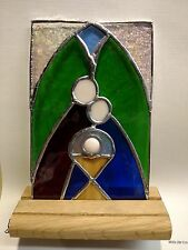 Stained Glass Standing Nativity